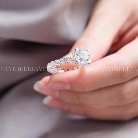 Nhẫn Premium Princess Full Stone Ring
