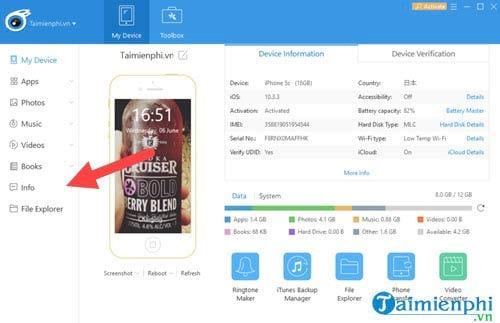 Cách chép danh bạ từ iPhone vào sim bằng iTools