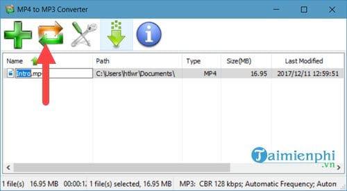 Cách dùng MP4 to MP3 Converter