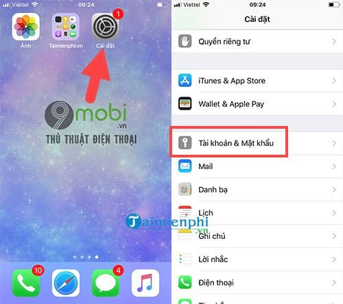 cach xoa gmail tren dien thoai android iphone 6