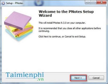 Cách cài đặt PNotes, tiện ích ghi nhớ và nhắc việc trên máy tính