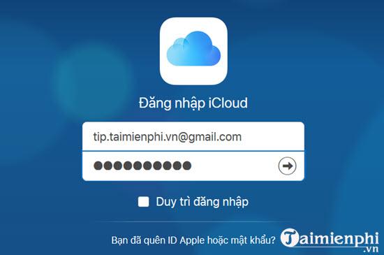 Cách đăng nhập iCloud trên điện thoại iPhone,iPad