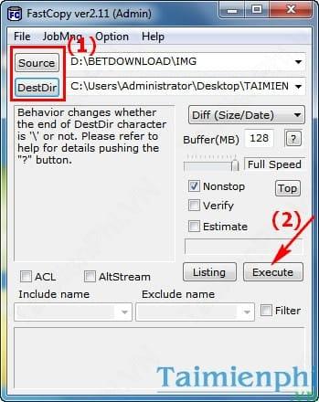 Tăng tốc Copy, sao chép data bằng FastCopy