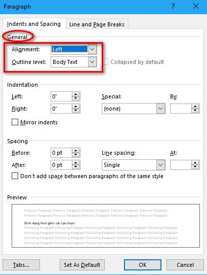 Hướng dẫn định dạng đoạn văn bản trong Word