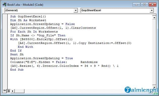 Hướng dẫn gộp nhiều file Excel thành 1 File