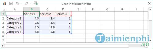 Hướng dẫn vẽ, tạo, chèn biểu đồ trong Word 2013