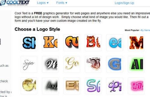 Top 5 website tạo logo online, logo online