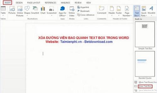 Word - Xóa đường viền bao quanh Text Box trong Word