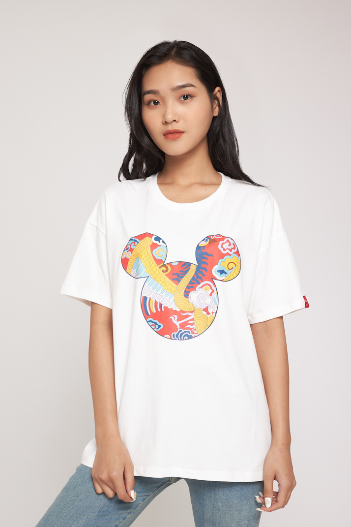 ÁO PHÔNG NỮ Mickey Tết BZL - Form Loose