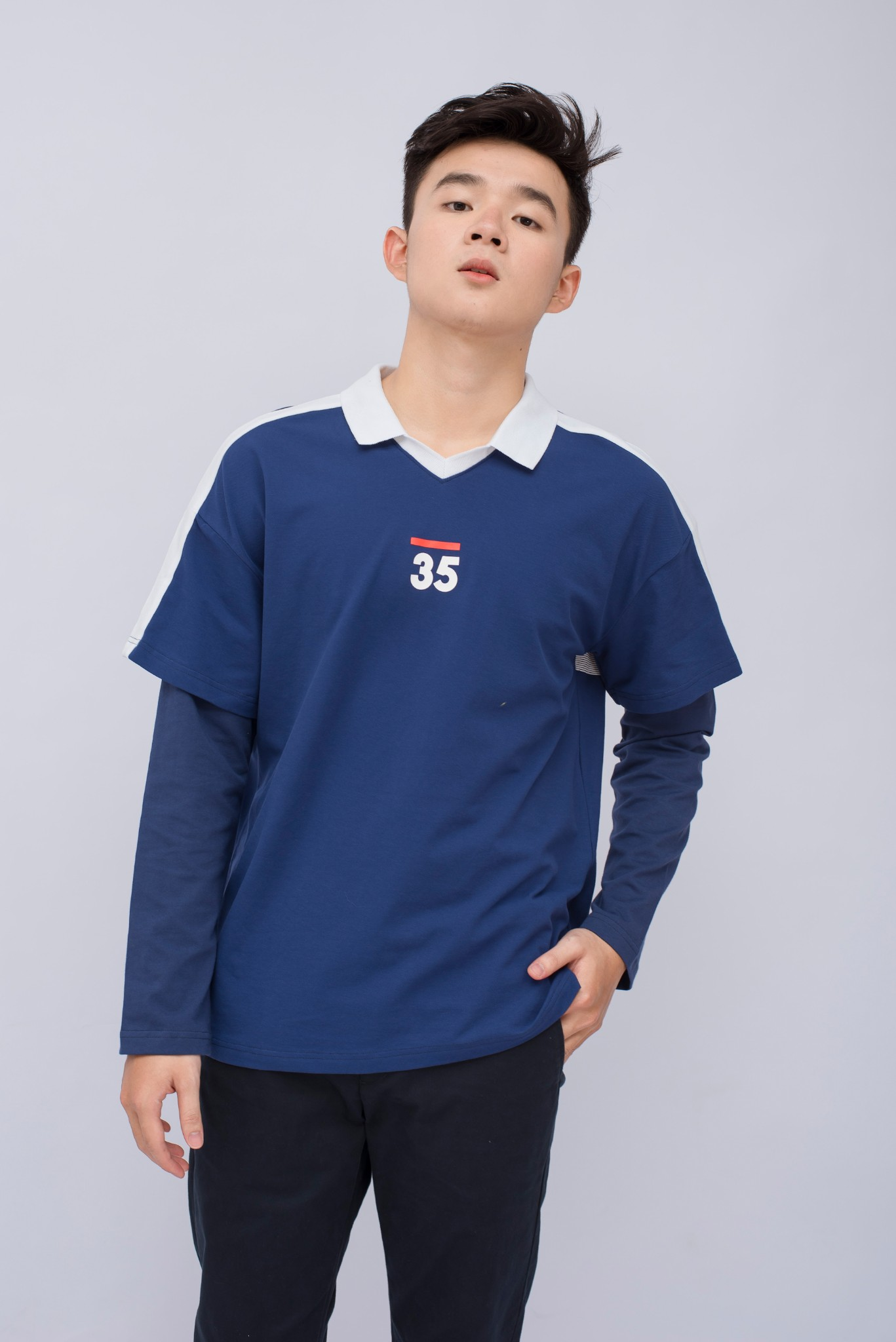 ÁO POLO NAM LOOSE LACOSTE 35 LAYER TAY