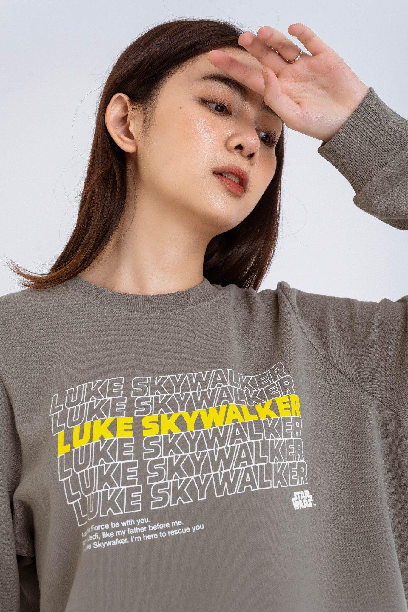 ÁO NỈ KHÔNG MŨ NỮ STAR WARS LUKE SKYWALKER