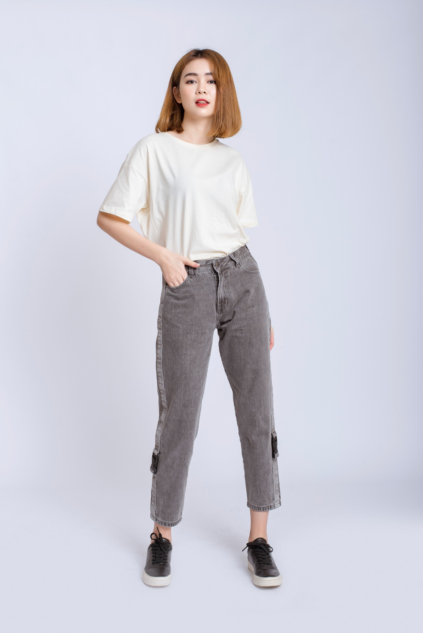QUẦN JEANS NỮ MOM JEANS  CHỐT SẬP