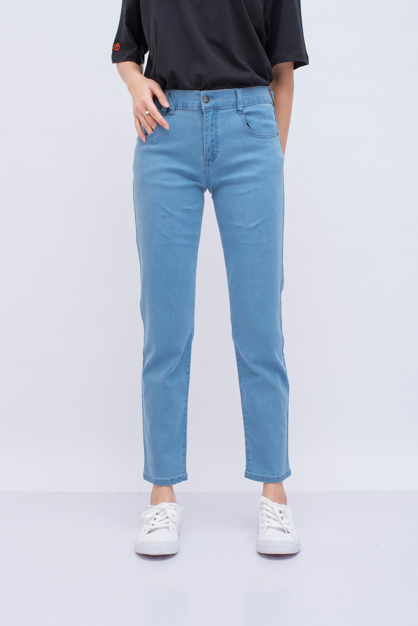 JEANS NỮ BASIC SKINNY PUSH UP