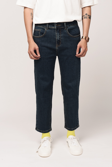 QUẦN JEANS NAM CROP STRAIGHT