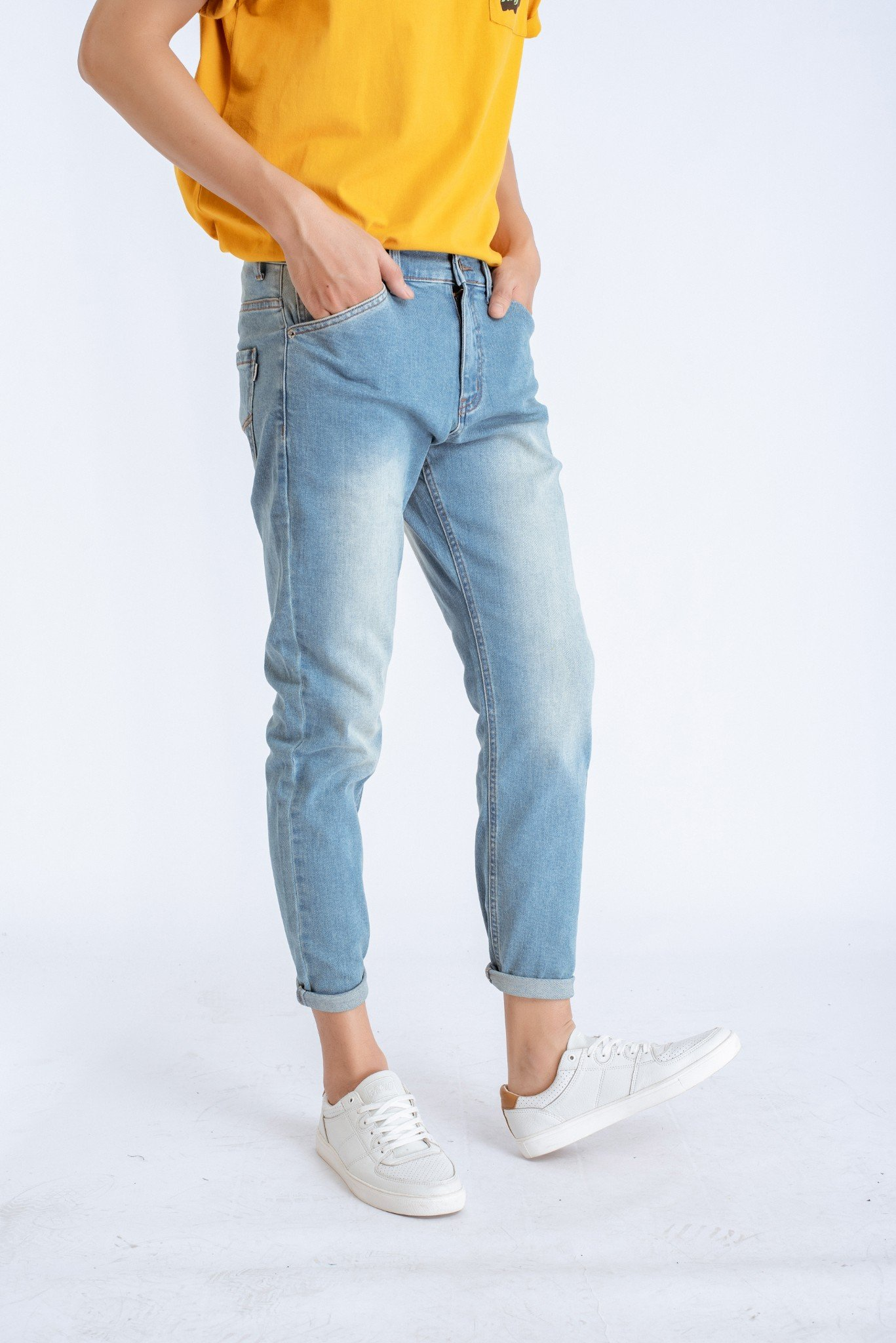 JEANS NAM SLIM FIT WASH NHẸ