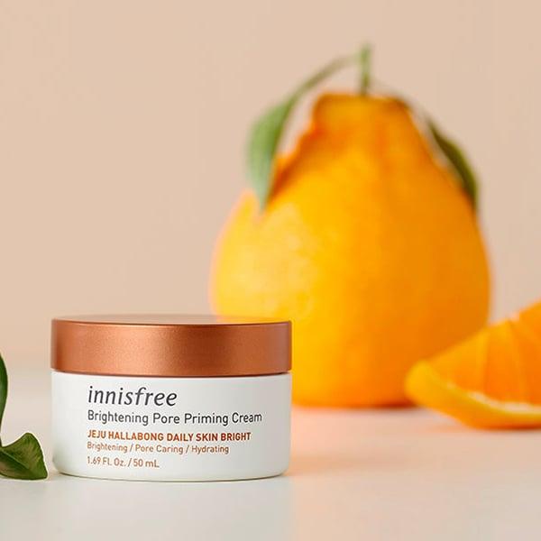 Kem Dưỡng Trắng Da Từ Quýt Innisfree Brightening Pore Priming Cream 50ml