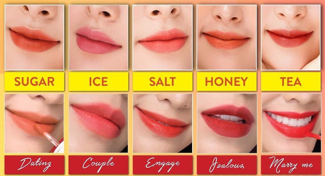 Combo 5 Son LEMONADE PERFECT COUPLE LIP (tùy chọn màu)