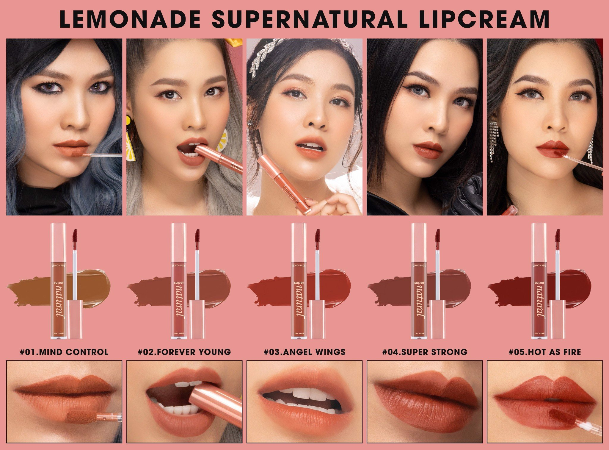 03. ANGEL WINGS Đỏ cam nâu - SUPERNATURAL MATTE LIPCREAM
