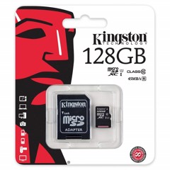 Thẻ nhớ Micro SDHC Kingston 128GB Class10 80Mb