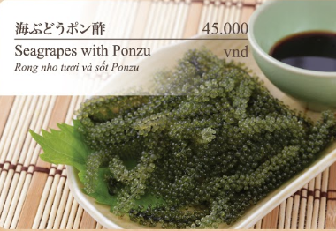 Seagrapes With Ponzu