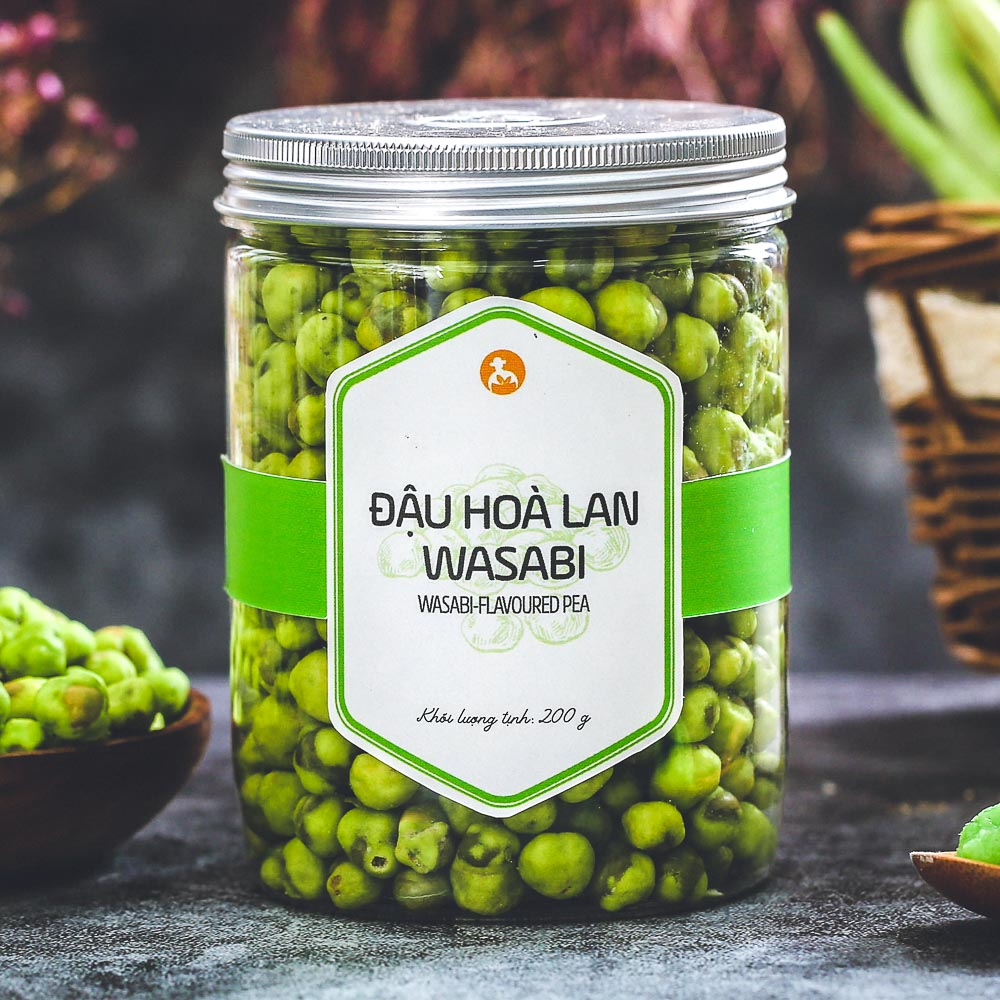 Đậu hoà lan wasabi, 200g, hũ, mẫu nắp nhôm