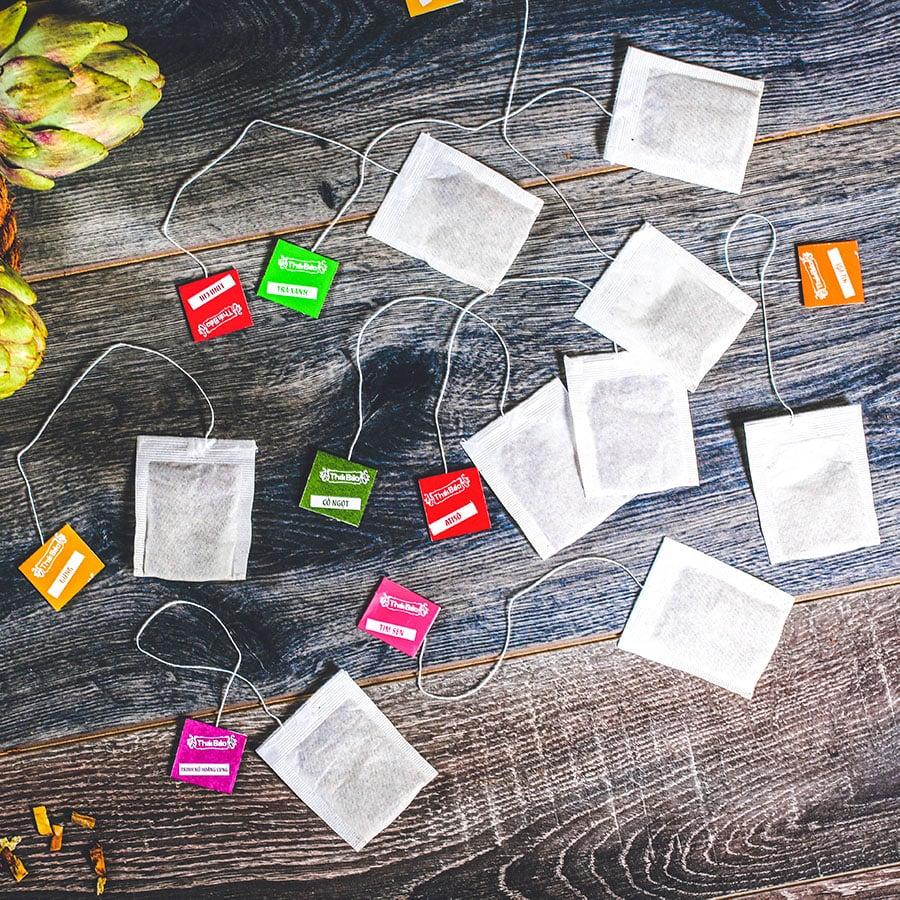 Trà atisô túi lọc, 60 tép, hộp, mẫu truyền thống, Thái Bảo