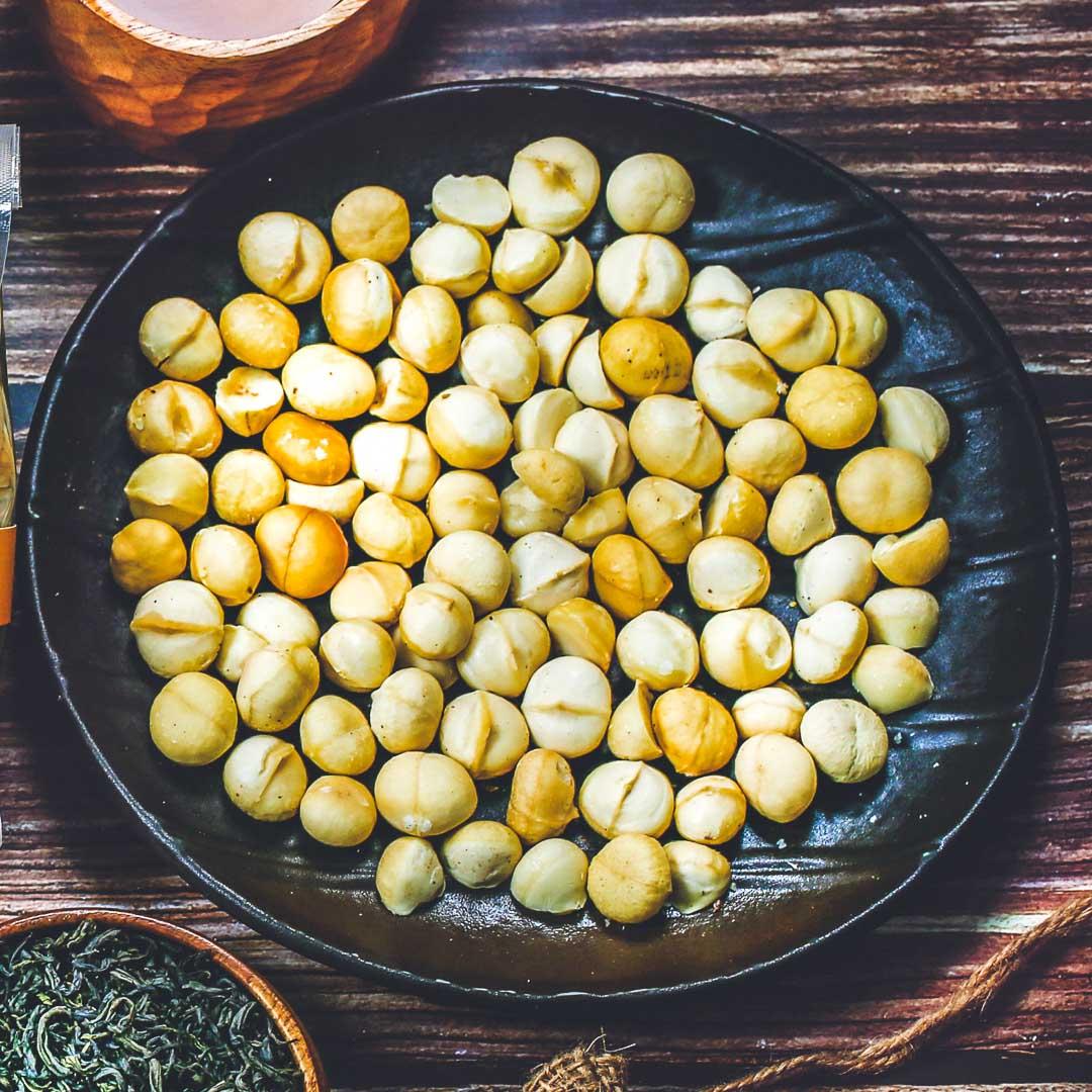 Hạt macca, 850g, bịch, mẫu mawashi