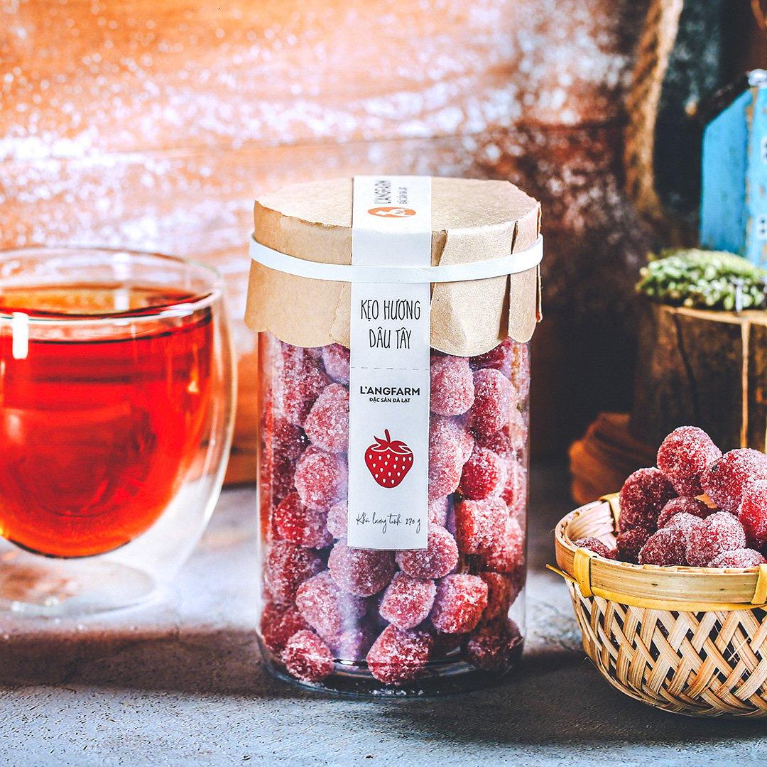 Kẹo hương dâu tây, 270g, hũ, mẫu tobita