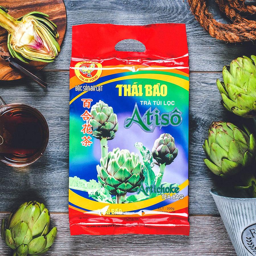Trà atisô túi lọc, 100 tép, bịch, mẫu truyền thống, Thái Bảo