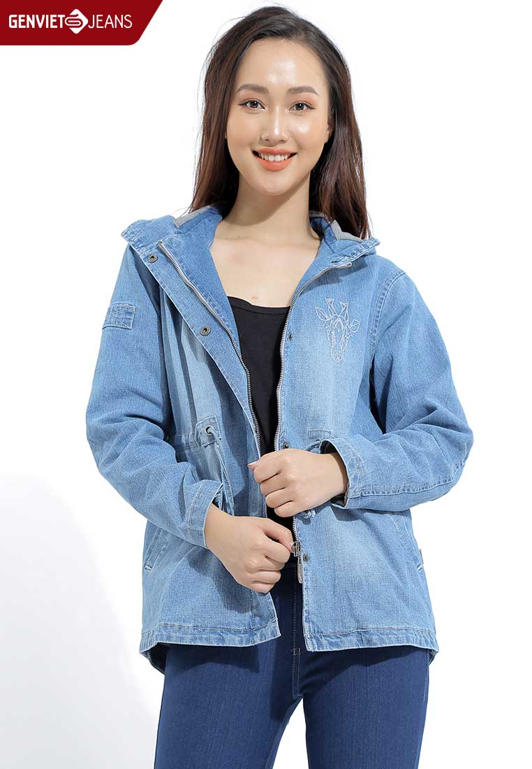 TH130J223 - Áo Khoác Jeans 2 Lớp Lót Nỉ