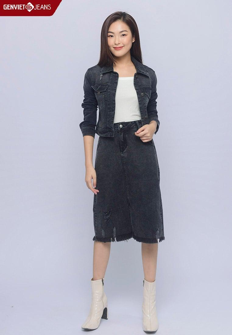 TK121J1374 - Áo Khoác Jeans Nữ 1 Lớp