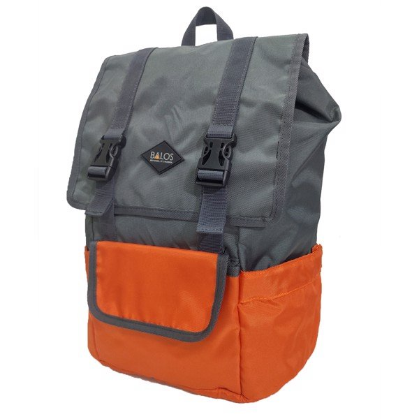 Balos SKY FLAP Orange/D.Grey Backpack - Balo Laptop thời trang