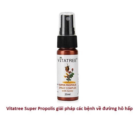 Chai xịt keo ong Vitatree Super Propolis With Manuka Honey 15+ 25ml của Úc