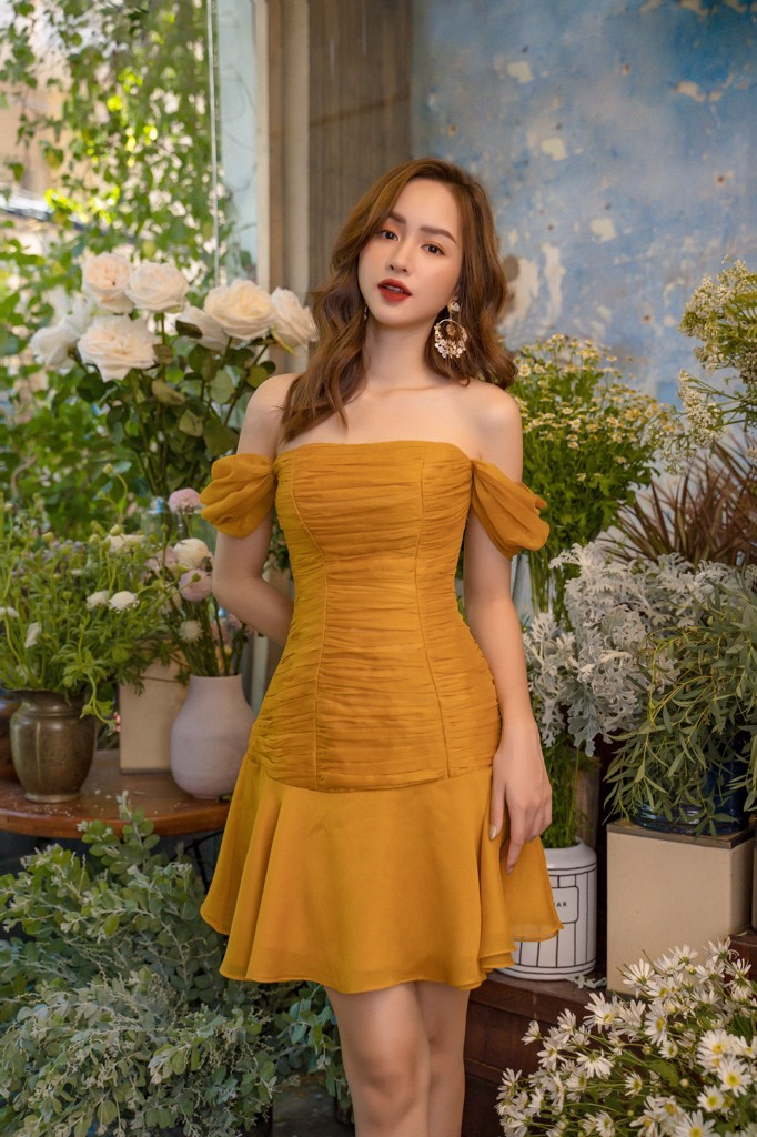 Marigold Wrinkle Dress