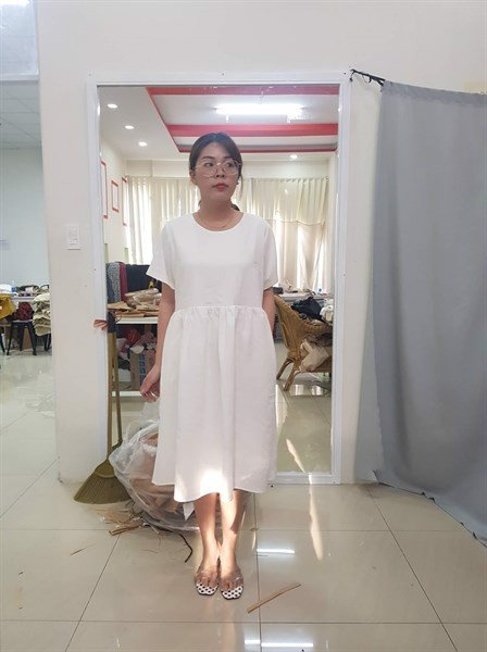 White Loose Dress