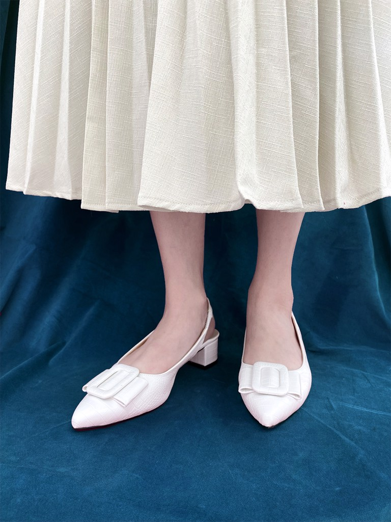 Chalky Slingback Pumps