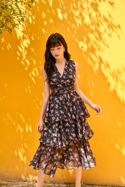 Night Flowers Dress