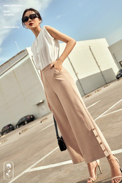 Quần Latte Button Pants