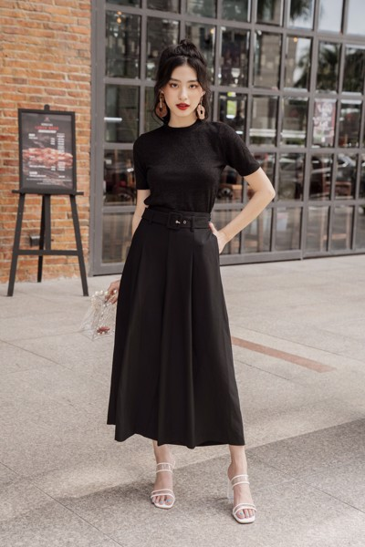 Quần Black Basic Culotte