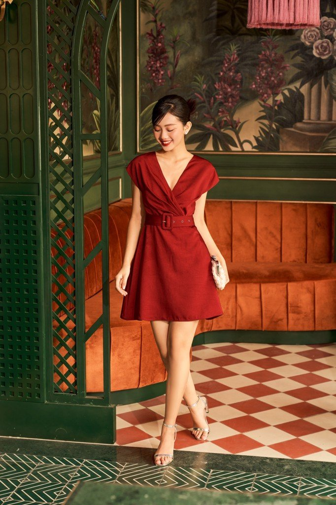 Ruby Belted Dress