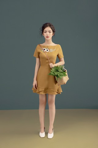 Dijon Embro Dress