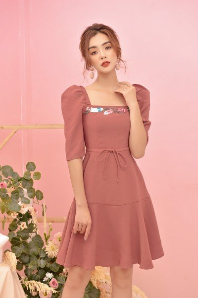 Rosewood Embro Dress