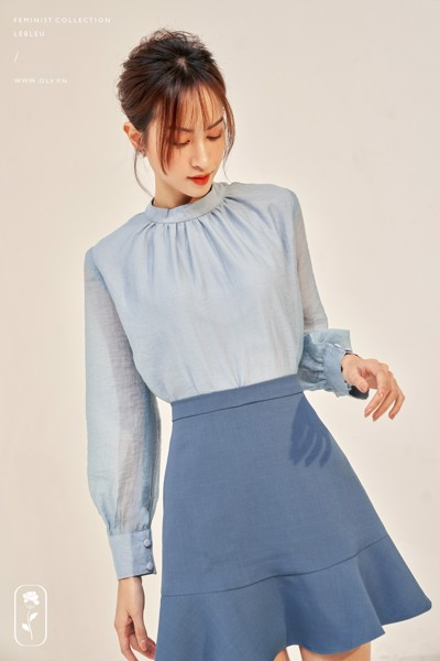 Áo Sky Blue Longsleeve Top