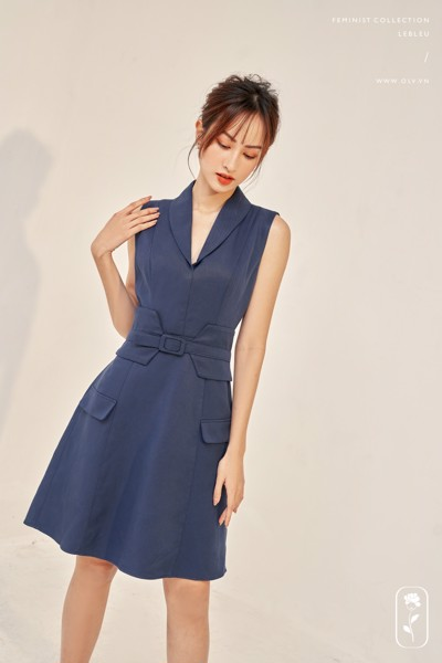 Midnight Blue Vest Dress