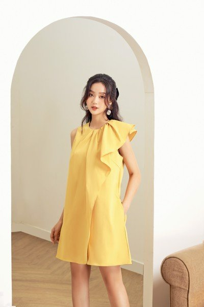 Asym Shoulder Dress
