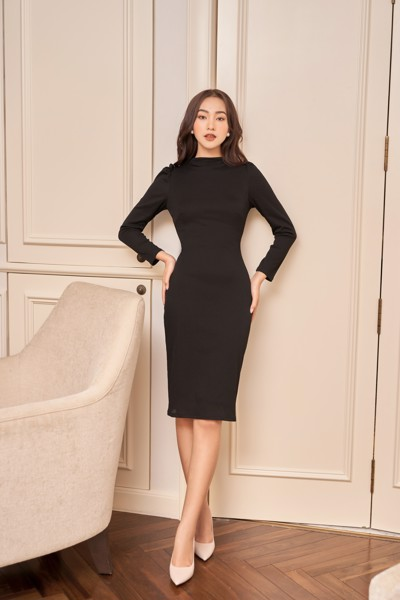 Black Longsleeve Bodycon