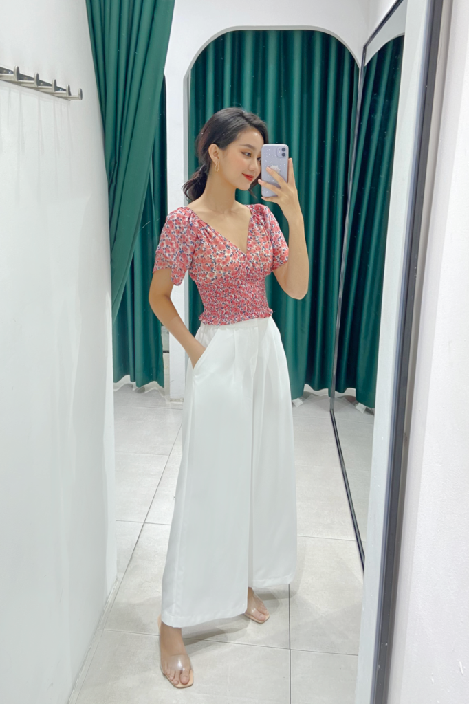 Quần White Long Culotte