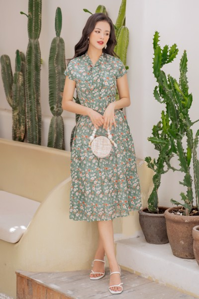 Ferny Floral Dress