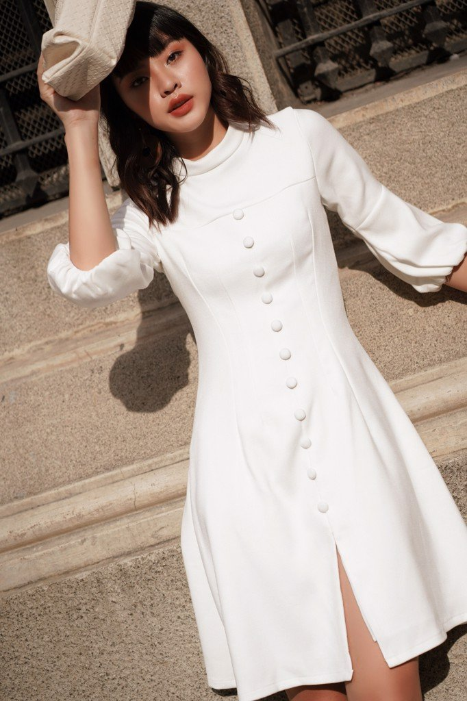 Snowy Long Sleeve Dress
