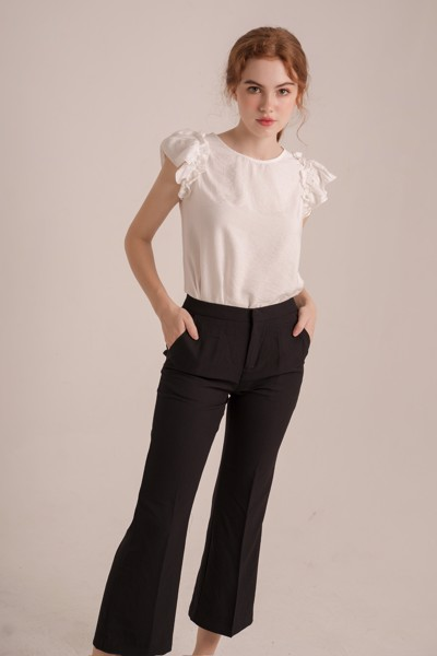 Áo Frilled Sleeve Bell Top